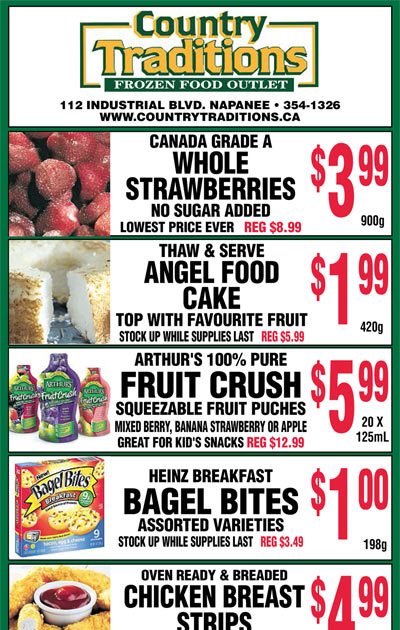frozen food specials deals