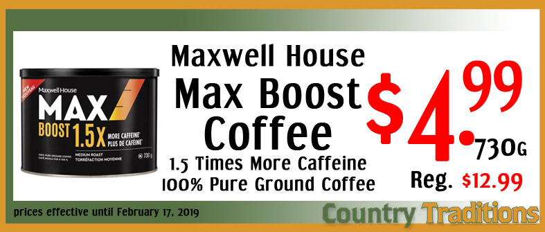 maxwell house max boost coffee
