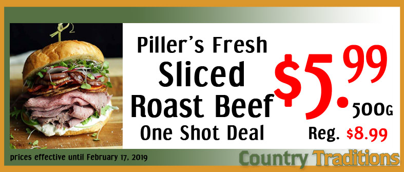 pillers sliced roast beef