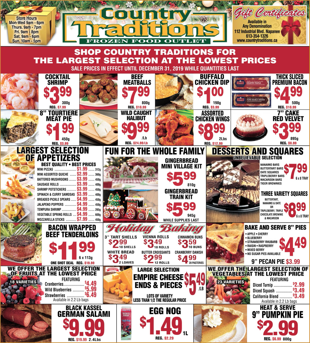 christmas holiday meals deals and treats
