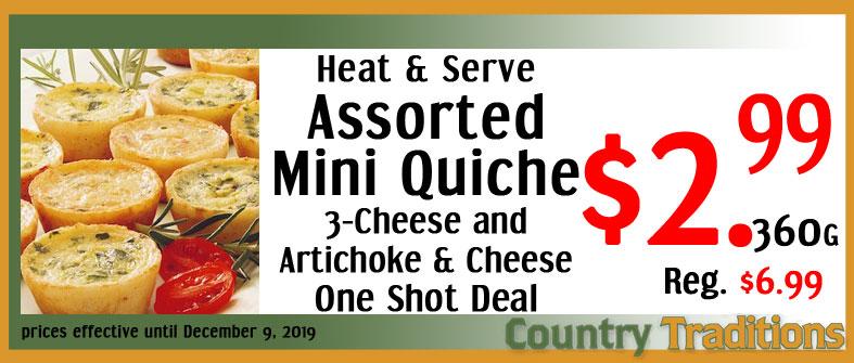 assorted mini quiche