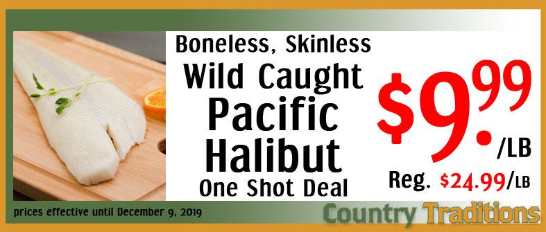 wild pacific halibut
