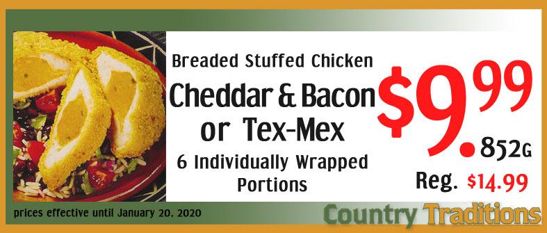 Breaded Stuffed Chicken