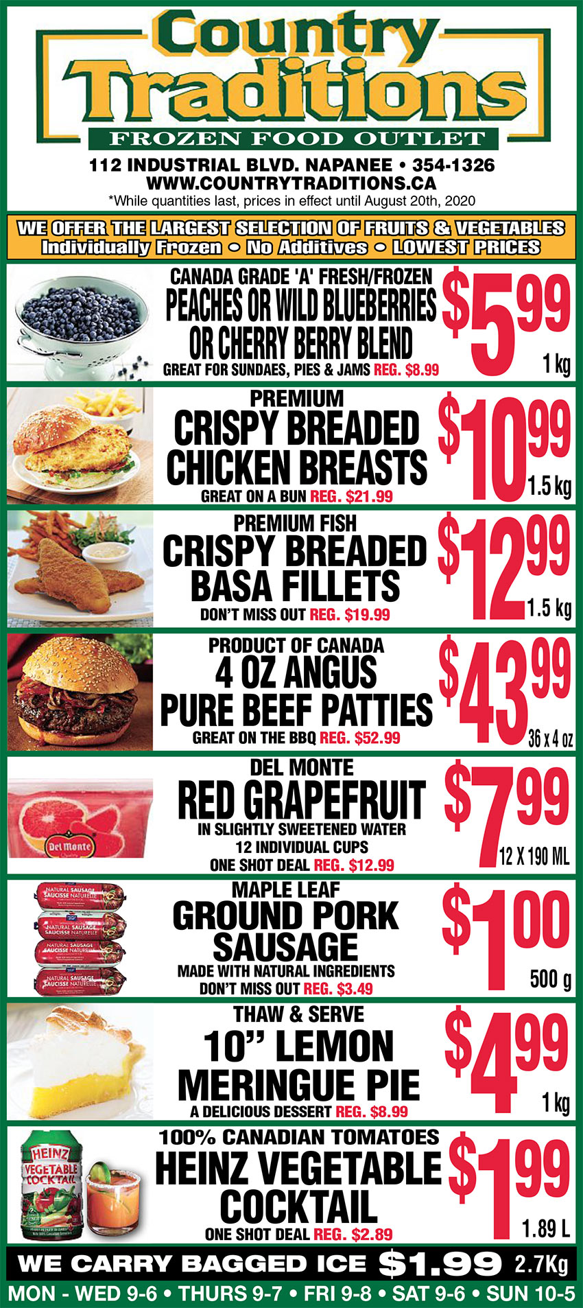 frozen food specials