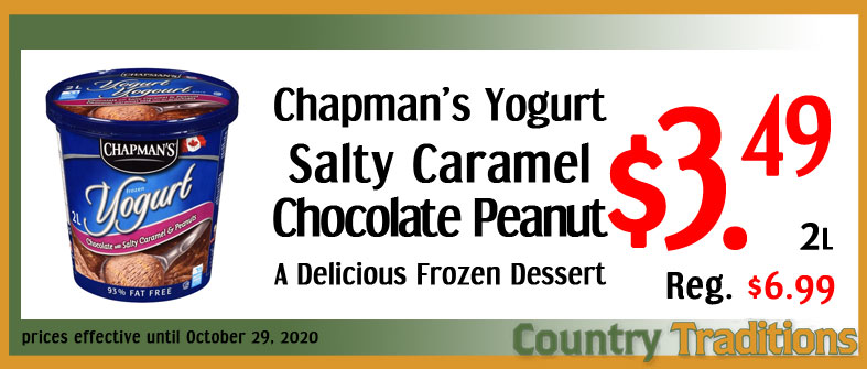 Chcolate Salty Caramel & Peanut frozen yogert