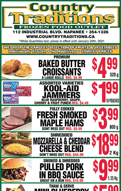 weekly frozen food specials